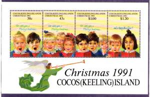 COCOS ISLAND 248 MH S/S SCV $8.50 BIN $4.00 MUSIC