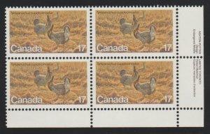 Canada 854 prairie chicken - MNH - block