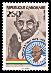 Gabon 926, MNH, 50th Anniversary Death of Mahatma Gandhi
