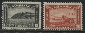 Canada 1930 definitive 12 cents and 20 cents mint o.g.