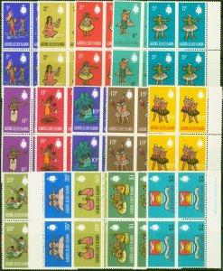 Gilbert & Ellice Is 1968 Decimal set of 15 SG135-149 Superb MNH Blocks of 4