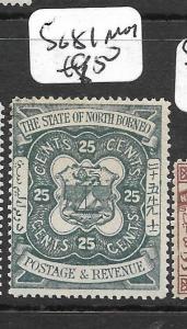 NORTH BORNEO (P2903B)   25C ARMS, LION SG 81  MOG