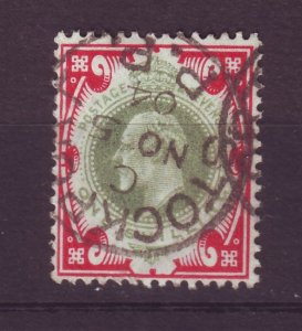 J24534 JLstamps 1902-11 great britain used #138 king