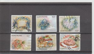 Finland  Scott#  1149a-1149f  Used  (2001 Valentine's Day)