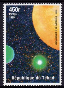 Chad 1999 Sc#808b SPACE Discovery of Pluto (1) perforated MNH