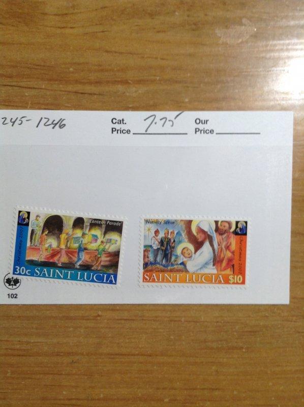 Saint Lucia  # 1245-1246  MNH