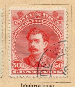 Costa Rica 1899 Early Issue Fine Used 50c. NW-09192