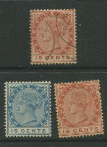 STAMP STATION PERTH: Mauritius #80-82 VFU / MNG 1885  Set of 3  Stamps