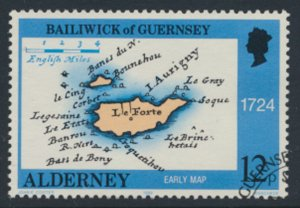Alderney  SG A37  SC# 37   Bastides Maps Used First Day Cancel - as per scan