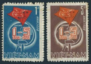 Viet Nam 1623-1624,MNH.Michel 1681-1682. May Day,1986.