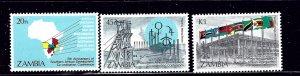 Zambia 324-26 MNH 1985 set    (ap1076)