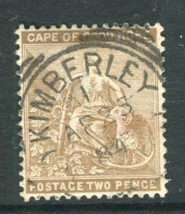 SOUTH AFRICA; CAPE GOOD HOPE QV issue fine used value nice POSTMARK