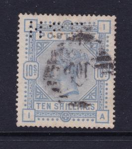 Great Britain a QV 10/- used but perfined