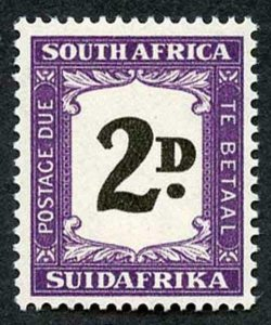 SOUTH AFRICA SGD36a Post Due 1948 2d showing variety Thick (double) 2d U/M