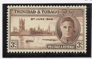 Trinidad & Tobago 1938 Early Issue Fine Mint Hinged 3c. 033902