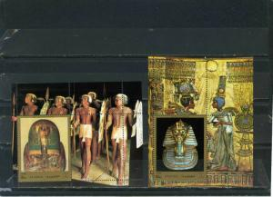 FUJEIRA 1972 OLD EGYPTIAN ART SET OF 2 S/S MNH