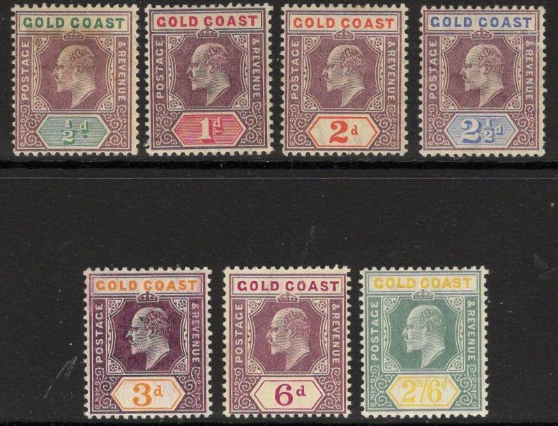 GOLD COAST SG49/57 1904-6 WMK MULT CROWN CA SET MTD MINT