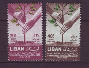 J24026 JLstamps 1960 lebanon set mh #c272-3 trees