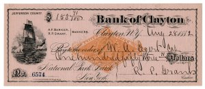 (I.B) US Revenue : Bank Check Duty 2c (Bank of Clayton)