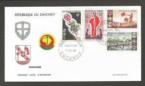 1966 Dahomey Boy Scouts semaphore FDC