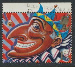 Great Britain SG 1485  Used   - Smiles Greeting  Booklet stamp