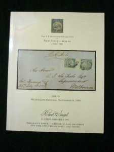 SIEGEL AUCTION CATALOGUE 1995 NEW SOUTH WALES 'MANWOOD' COLLECTION