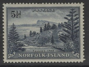 NORFOLK ISLAND SG8 1947 5½d INDIGO MNH