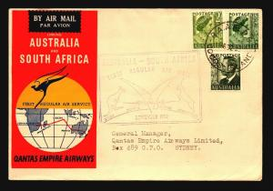 COCOS Islands 1952 First Flight Cover to Australia  - Z14699