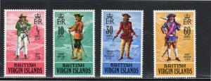 VIRGIN ISLANDS #229-232  1970  PIRATES        MINT VF NH O.G