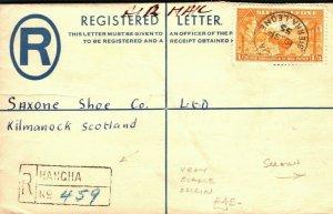 SIERRA LEONE Cover *HANGHA* VERY SCARCE ORIGIN Registered Kilmarnock 1955 PB328