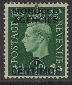 MOROCCO AGENCIES SG165 1937 5c on ½d GREEN MTD MINT