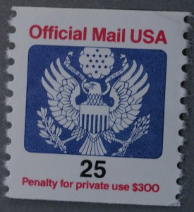 United States #O141 25 Cent Official Eagle MNH