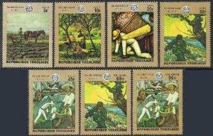 Togo 717-721,C124-C125,MNH.Mi 771-777. ILO-50.1970.Paintings.Van Gogh,Rivera,