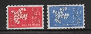 FRANCE - EUROPA 1961 - SCOTT 1005 TO 1006 - MNH