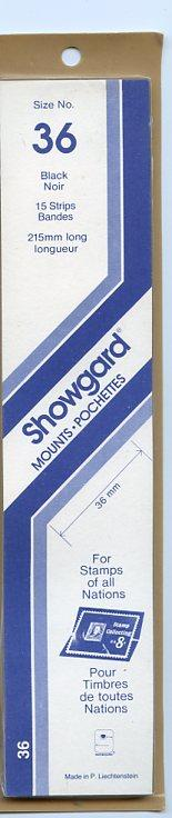 SHOWGARD DARK BACKGROUND MOUNTS 36/215 PACKAGE 15 STRIPS