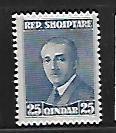 ALBANIA, 191, MINT HINGED,PRES. AHMED ZOGU