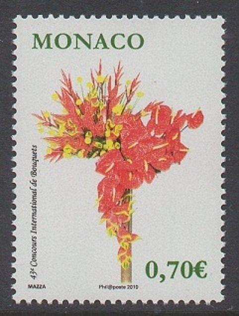 Monaco 2010 Flower Arrangement VF MNH (2581)