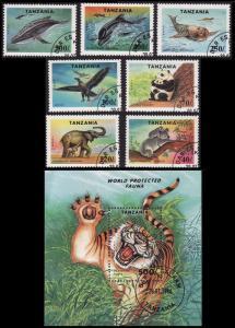 Tanzania Birds Protected Fauna 7v+MS CTO SG#1807-MS1814 SC#1287-1294