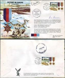 JS50/45/12a Victory In Europe 8 May 1945 Signed by 2