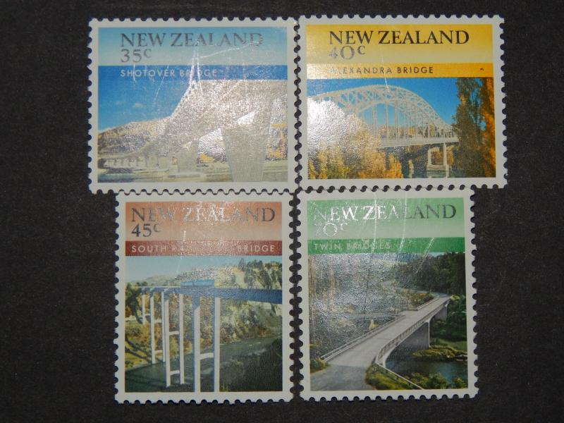 1985 BRIDGES OF NEW ZEALAND SET OF FOUR ALL MNH