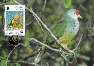Pitcairn Islands 1996 Maxicard Sc #460 90c Henderson Island Fruit dove WWF