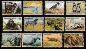 United Nations Endangered Species set (12 stamps) MNH 1993