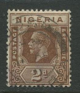 Nigeria -Scott 22 - KGV Definitive -1921 - Used - Single 2p Stamp