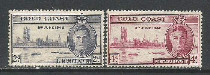 Gold Coast   #128-29  MH  (1946)  c.v. $1.85