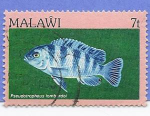 Malawi Scott #430 Fish, used