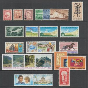 New Zealand Sc 186/B8 MLH. 1935-81 issues, 24 diff sets & singles, many NH, F-VF