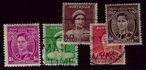 Australia SC#176, 183 Mint; 80-182 Used F-VF...An Amazing Country!