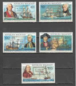 MALAGASY REPUBLIC 564-565 + C164-C166 MNH 2019 SCOTT CATALOGUE VALUE $6.80