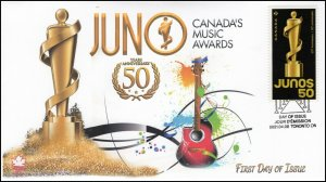 CA21-032, 2021, JUNO Awards, First Day of Issue, Pictorial Postmark, Toronto
