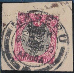BASUTOLAND 1933 Sth Africa 1d  MASERU cds on piece..........................N404